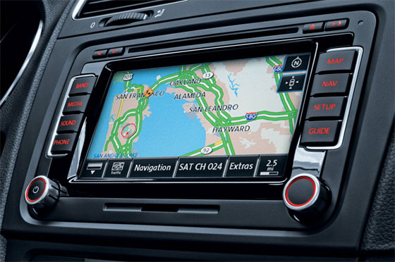 Example of a Volkswagen Navigation System with New Maps